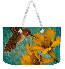 Hummingbird With Yellow Jasmine Weekender Tote Bag