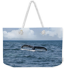 Humpback Whale Fin Weekender Tote Bag by Juli Scalzi