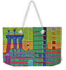 Hundertwasser Das Ende Griechenlands In 3d By J.j.b. Weekender Tote Bag