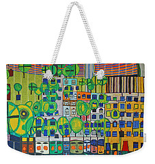 Hundertwasser The Three Skins In 3d By J.j.b. Weekender Tote Bag