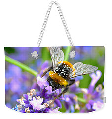 Hungry Bee Weekender Tote Bag by Tine Nordbred