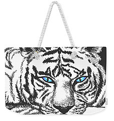 Weekender Tote Bag featuring the drawing Hungry Eyes by Sophia Schmierer