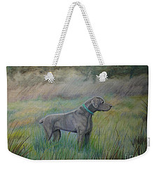 Weekender Tote Bag featuring the painting Hunter by Laurianna Taylor
