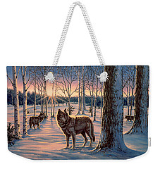 Hunters At Twilight Weekender Tote Bag
