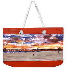 Huntington Beach Pier 3 Weekender Tote Bag