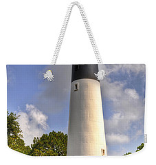 Weekender Tote Bag featuring the photograph Huntington Island Lighthouse by Deborah Klubertanz