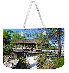 Weekender Tote Bag featuring the photograph Hurricane Irenes Destruction by Sherman Perry