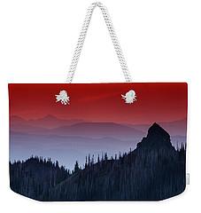 Hurricane Ridge Sunset Vista Weekender Tote Bag