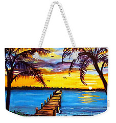 Weekender Tote Bag featuring the painting Hurry Sundown by Ecinja Art Works