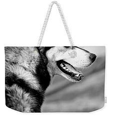 Husky Portrait Weekender Tote Bag