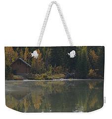 Hut By The Lake Weekender Tote Bag