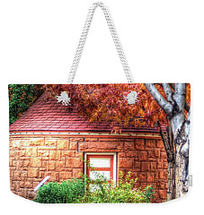 Hut In Manitou Springs Weekender Tote Bag by Lanita Williams