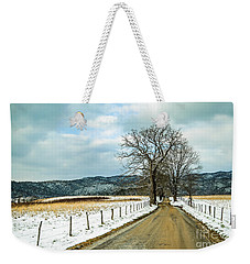 Hyatt Lane In Snow Weekender Tote Bag