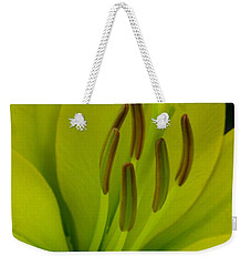 Weekender Tote Bag featuring the photograph Hybrid Lily Named Trebbiano by J McCombie