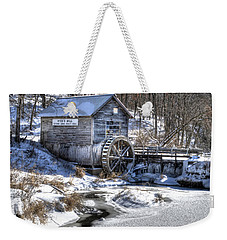 Hyde's  Mill In The Winter Weekender Tote Bag