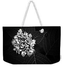 Weekender Tote Bag featuring the photograph Hydrangea In Monochrome #5 by Ben Shields