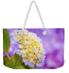 Hydrangea On Purple Weekender Tote Bag by Parker Cunningham