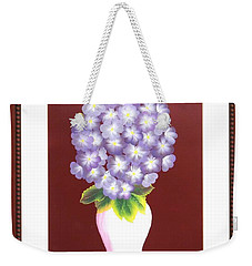 Weekender Tote Bag featuring the painting Hydrangea by Ron Davidson