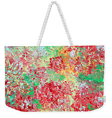 Weekender Tote Bag featuring the painting Hydrangeas II by Alys Caviness-Gober