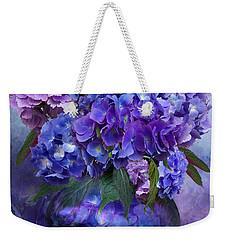 Hydrangeas In Hydrangea Vase Weekender Tote Bag