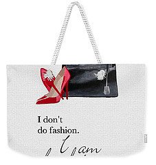 I Am Fashion Weekender Tote Bag by Rebecca Jenkins