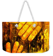 Weekender Tote Bag featuring the painting I Chose You by Hazel Holland