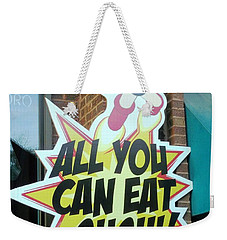 I Don't Know Weekender Tote Bag by Kelly Awad