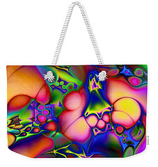 Weekender Tote Bag featuring the digital art I Don't Think We're In Kansas Anymore by Casey Kotas