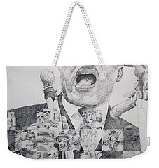 Weekender Tote Bag featuring the drawing I Have A Dream Martin Luther King by Joshua Morton