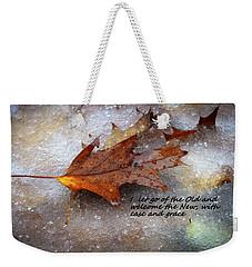 I Let Go Weekender Tote Bag by Patrice Zinck