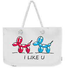 I Like U  Weekender Tote Bag
