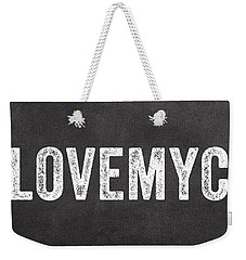 I Love My Cat Weekender Tote Bag by Linda Woods