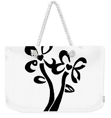 Weekender Tote Bag featuring the drawing I Love You Flowers by Tamir Barkan