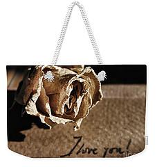 I Love You Letter Weekender Tote Bag