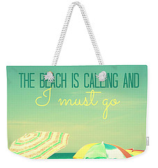 I Must Go Weekender Tote Bag by Valerie Reeves