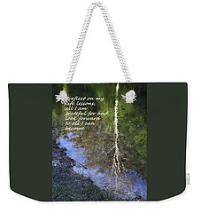 I Reflect Weekender Tote Bag by Patrice Zinck