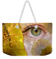 I See Sunflowers Weekender Tote Bag