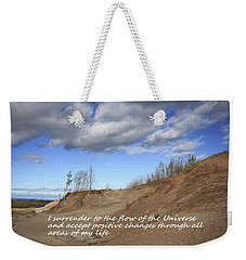 I Surrender To The Flow Of The Universe Weekender Tote Bag by Patrice Zinck