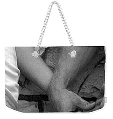 Weekender Tote Bag featuring the photograph I Wanna Hold Your Hand by Lesa Fine