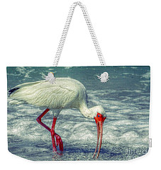Ibis Feeding Weekender Tote Bag by Valerie Reeves