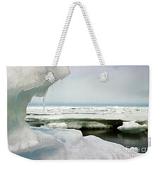 Weekender Tote Bag featuring the photograph Ice Barrow Alaska July 1969 By Mr. Pat Hathaway by California Views Mr Pat Hathaway Archives
