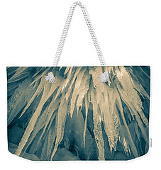 Ice Cave Weekender Tote Bag by Edward Fielding