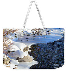 Ice Cold Water Weekender Tote Bag by Fiona Kennard