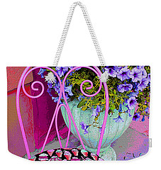 Ice Cream Cafe Chair Weekender Tote Bag by Nina Silver