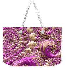 Weekender Tote Bag featuring the digital art Ice Cream Social by Susan Maxwell Schmidt