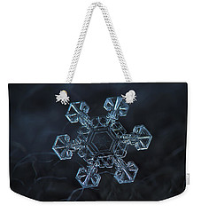 Snowflake Photo - Ice Crown Weekender Tote Bag by Alexey Kljatov