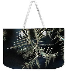 Ice Crystals Weekender Tote Bag