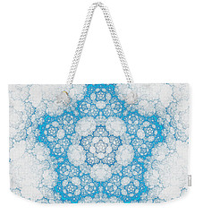 Weekender Tote Bag featuring the digital art Ice Crystals by GJ Blackman