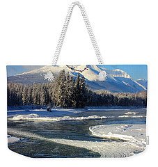Ice Curves Weekender Tote Bag by Stanza Widen