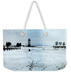 Ice Fishing Solitude 1 Weekender Tote Bag